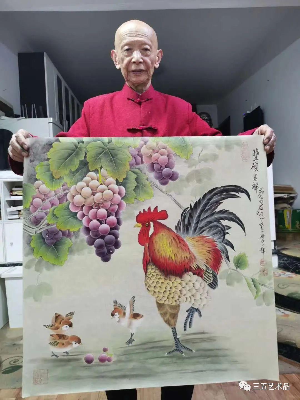 三五藝術品:中國著名國畫大師齊白石先生親傳弟子國畫大師董長青老師十二生肖作品賞析